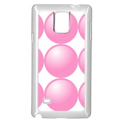 Circle Pink Samsung Galaxy Note 4 Case (white) by Alisyart