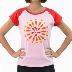 Circle Orange Women s Cap Sleeve T-shirt by Alisyart