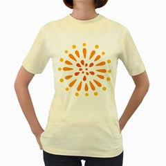 Circle Orange Women s Yellow T Shirt by Alisyart