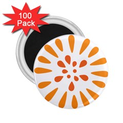 Circle Orange 2 25  Magnets (100 Pack)  by Alisyart