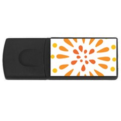 Circle Orange Usb Flash Drive Rectangular (4 Gb)