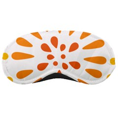 Circle Orange Sleeping Masks by Alisyart