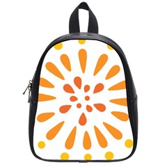 Circle Orange School Bags (small)  by Alisyart