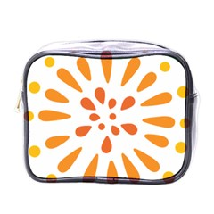 Circle Orange Mini Toiletries Bags by Alisyart