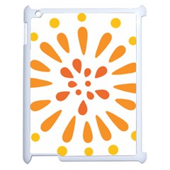 Circle Orange Apple Ipad 2 Case (white) by Alisyart