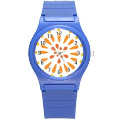 Circle Orange Round Plastic Sport Watch (s) by Alisyart