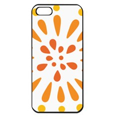 Circle Orange Apple Iphone 5 Seamless Case (black)