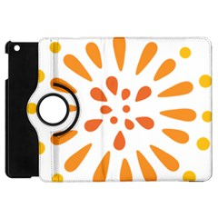 Circle Orange Apple Ipad Mini Flip 360 Case by Alisyart