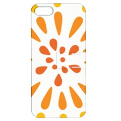 Circle Orange Apple Iphone 5 Hardshell Case With Stand by Alisyart