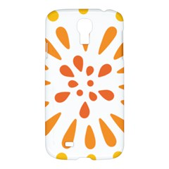 Circle Orange Samsung Galaxy S4 I9500/i9505 Hardshell Case