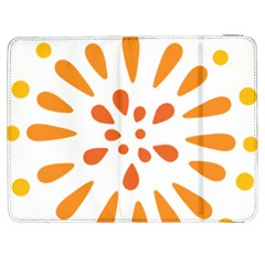 Circle Orange Samsung Galaxy Tab 7  P1000 Flip Case