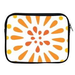 Circle Orange Apple Ipad 2/3/4 Zipper Cases by Alisyart
