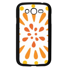 Circle Orange Samsung Galaxy Grand Duos I9082 Case (black) by Alisyart