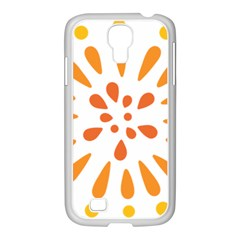 Circle Orange Samsung Galaxy S4 I9500/ I9505 Case (white) by Alisyart