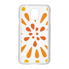 Circle Orange Samsung Galaxy S5 Case (white)