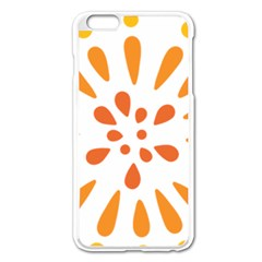 Circle Orange Apple Iphone 6 Plus/6s Plus Enamel White Case by Alisyart