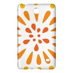 Circle Orange Samsung Galaxy Tab 4 (7 ) Hardshell Case  by Alisyart
