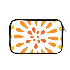 Circle Orange Apple Macbook Pro 13  Zipper Case