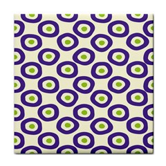 Circle Purple Green White Tile Coasters by Alisyart