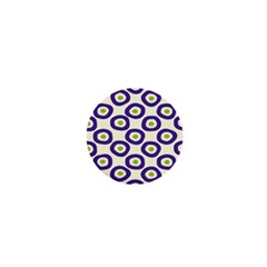 Circle Purple Green White 1  Mini Magnets by Alisyart