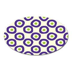 Circle Purple Green White Oval Magnet by Alisyart