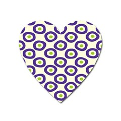 Circle Purple Green White Heart Magnet by Alisyart