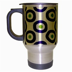 Circle Purple Green White Travel Mug (silver Gray)