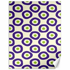 Circle Purple Green White Canvas 12  X 16   by Alisyart