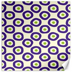 Circle Purple Green White Canvas 16  X 16   by Alisyart