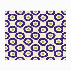 Circle Purple Green White Small Glasses Cloth (2 Side) by Alisyart
