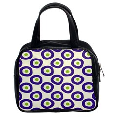 Circle Purple Green White Classic Handbags (2 Sides) by Alisyart