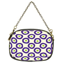 Circle Purple Green White Chain Purses (two Sides)  by Alisyart