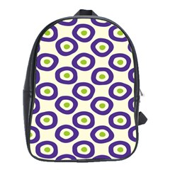 Circle Purple Green White School Bags(large)  by Alisyart