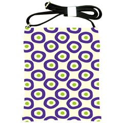 Circle Purple Green White Shoulder Sling Bags by Alisyart