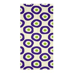 Circle Purple Green White Shower Curtain 36  X 72  (stall)  by Alisyart
