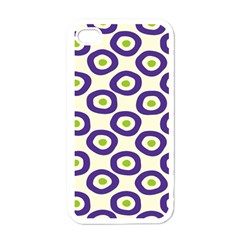 Circle Purple Green White Apple Iphone 4 Case (white) by Alisyart