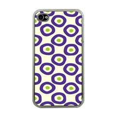 Circle Purple Green White Apple Iphone 4 Case (clear)