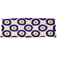 Circle Purple Green White Body Pillow Case (dakimakura)