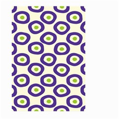 Circle Purple Green White Large Garden Flag (two Sides)