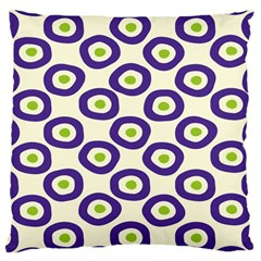 Circle Purple Green White Large Cushion Case (two Sides) by Alisyart