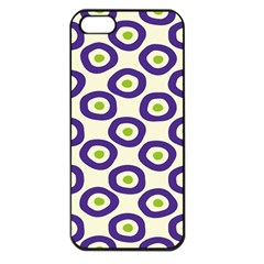 Circle Purple Green White Apple Iphone 5 Seamless Case (black)