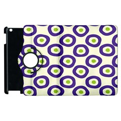 Circle Purple Green White Apple Ipad 3/4 Flip 360 Case by Alisyart