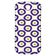 Circle Purple Green White Samsung Galaxy S3 S Iii Classic Hardshell Back Case by Alisyart