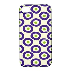 Circle Purple Green White Apple Iphone 4/4s Hardshell Case With Stand by Alisyart