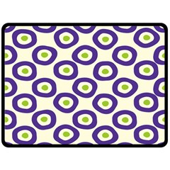 Circle Purple Green White Double Sided Fleece Blanket (large)
