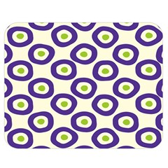 Circle Purple Green White Double Sided Flano Blanket (medium)  by Alisyart
