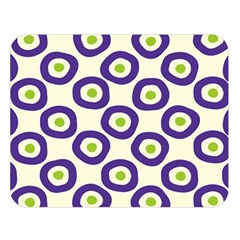 Circle Purple Green White Double Sided Flano Blanket (large)