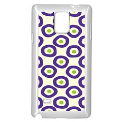 Circle Purple Green White Samsung Galaxy Note 4 Case (white) by Alisyart