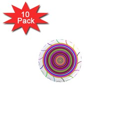 Abstract Spiral Circle Rainbow Color 1  Mini Magnet (10 Pack)  by Alisyart