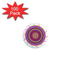 Abstract Spiral Circle Rainbow Color 1  Mini Magnets (100 Pack)  by Alisyart